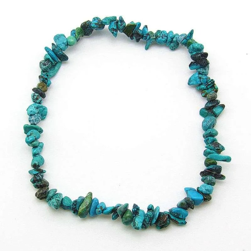 Turquoise chip bracelet-small chips