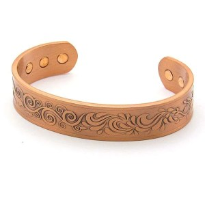 Adjustable magnetic copper bracelet-4 elements