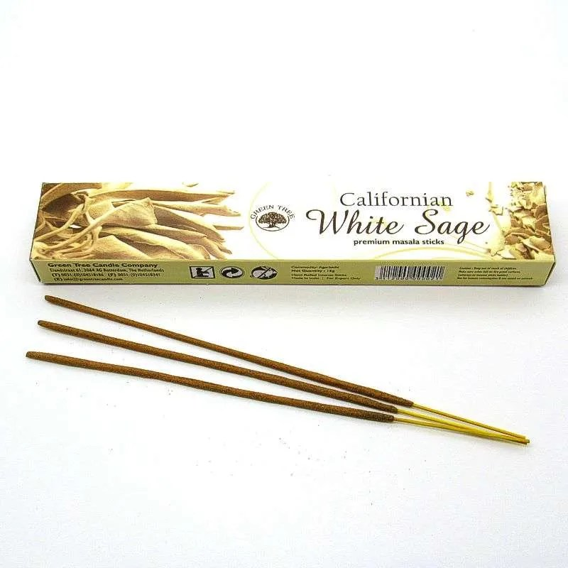Green Tree White Sage incense sticks.