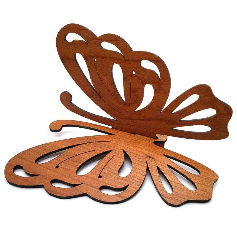 Cherry wood butterfly wall hanging.