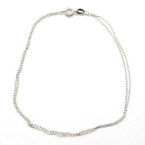 Sterling silver .8mm necklace chain-18 inch.