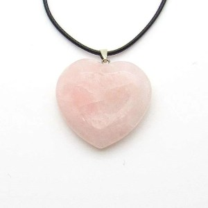 1.5 inch rose quartz heart pendant