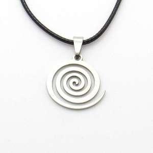 Metal spiral pendant