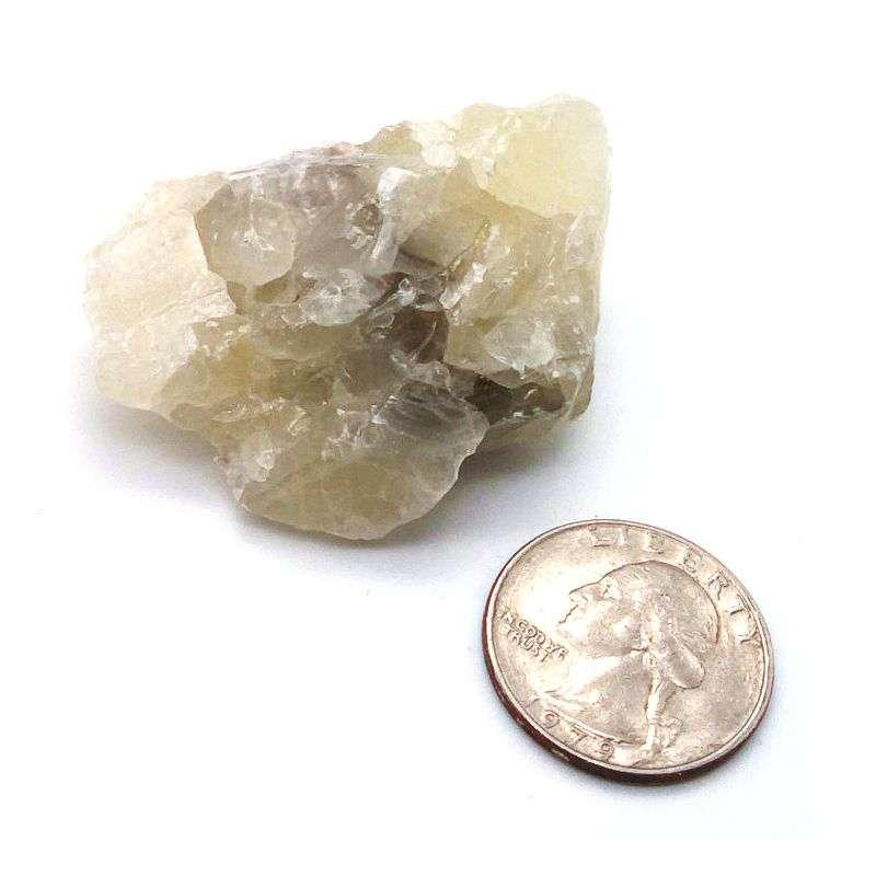 Small white calcite nugget.
