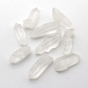 Quartz crystal points.
