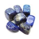 Tumbled lapis lazuli.