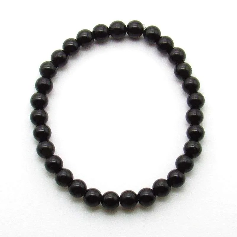 Rainbow obsidian 6mm gemstone bead bracelet.