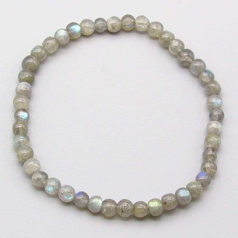 Labradorite 4mm gemstone bead bracelet.