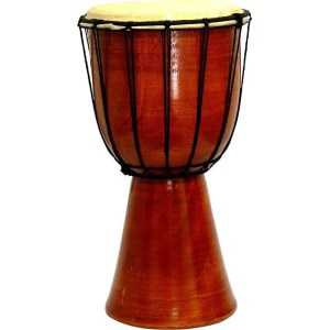Red mahogany Djembe drum