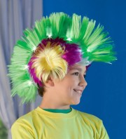 neon light- crazy hair faux-hawk