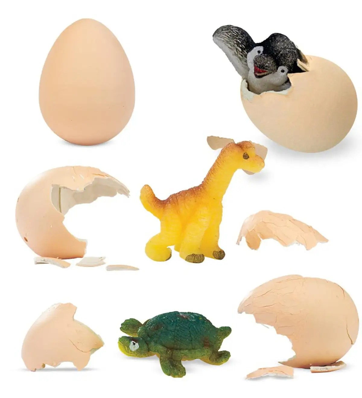 Set Of 3 Hatch Ems Eggs With Baby Animals Inside
