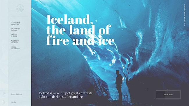 Screenshot of the Love for Iceland website, made with WordPress