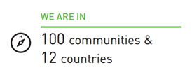 We Are In 100 communities & 12 countries