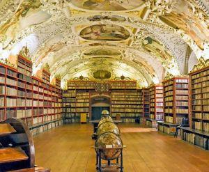 Europe Czech Republic Prague Strahov Monastery Library