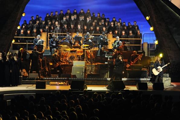 Ann, Nancy and the Choir.