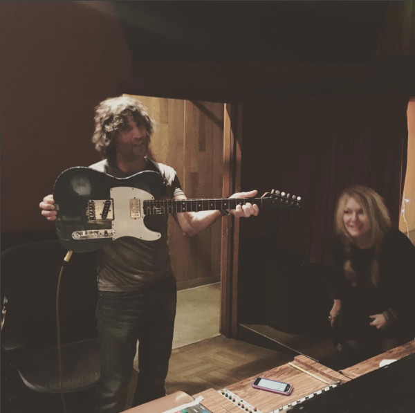 Nancy and Dan in the studio.