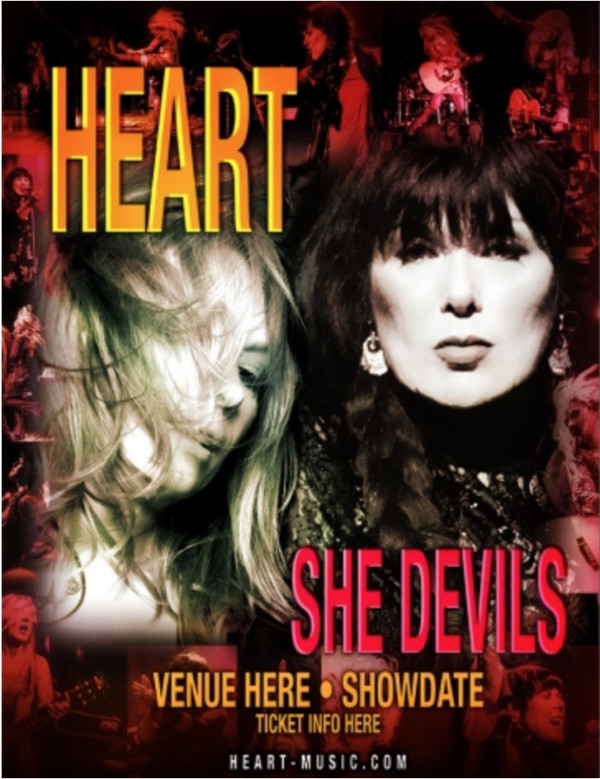 """Heart's 2016 solo tour dates are named """"She Devils"""""""