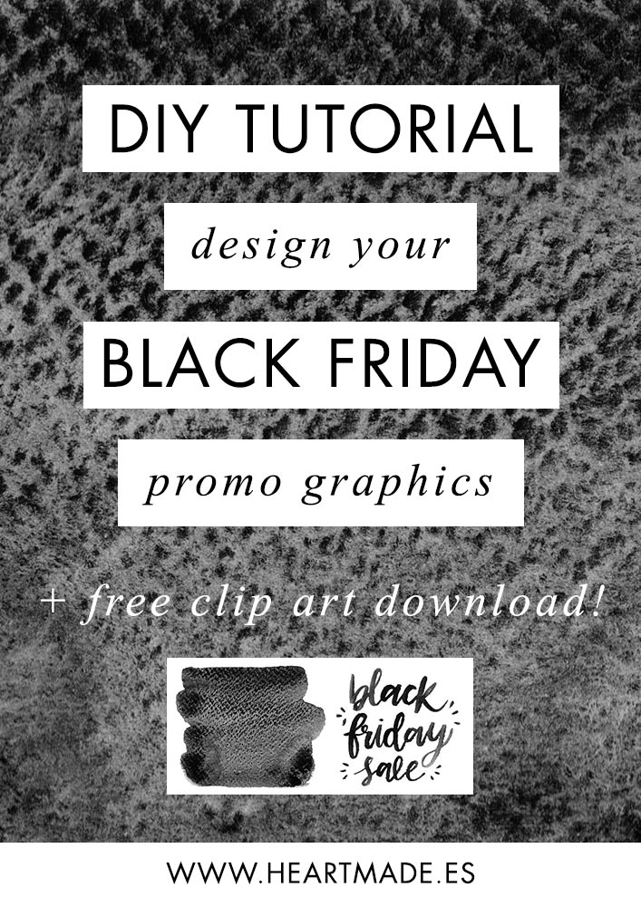 In this tutorial, I'm teaching how you can design your own Black Friday sale graphics using watercolor paintings.