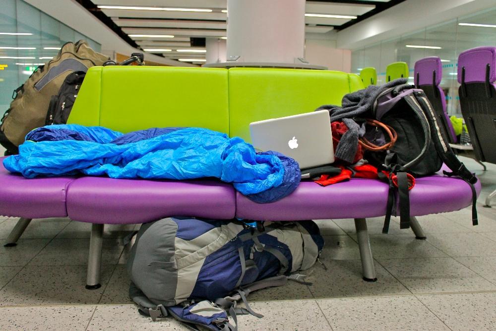 sleeping gatwick airport