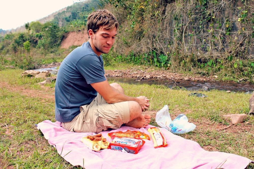 picnic near Muang Sing, Laos