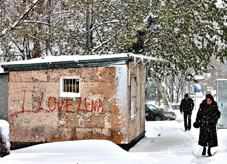 snow yerevan, armenia