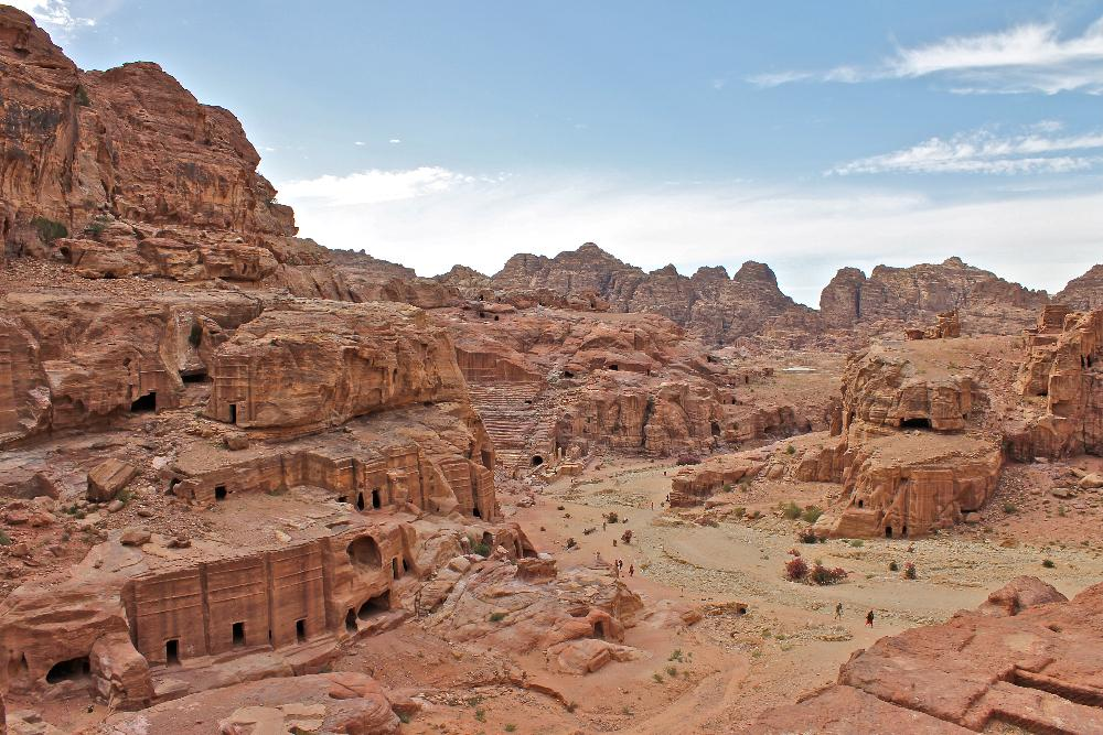 view from high place in Petra, Jordan