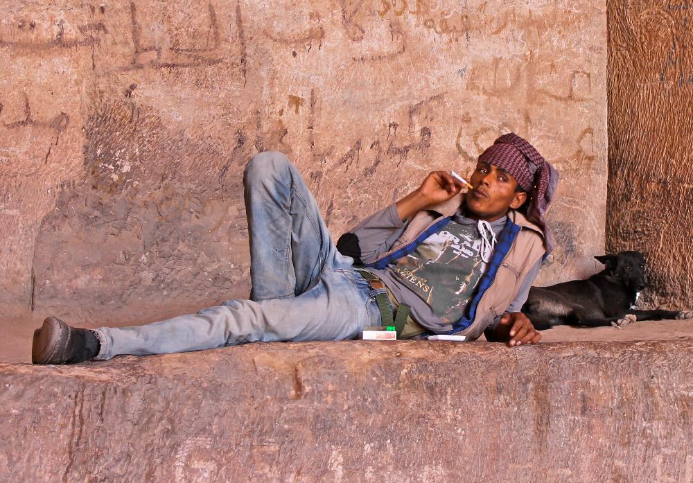 bedouin man Petra, Jordan