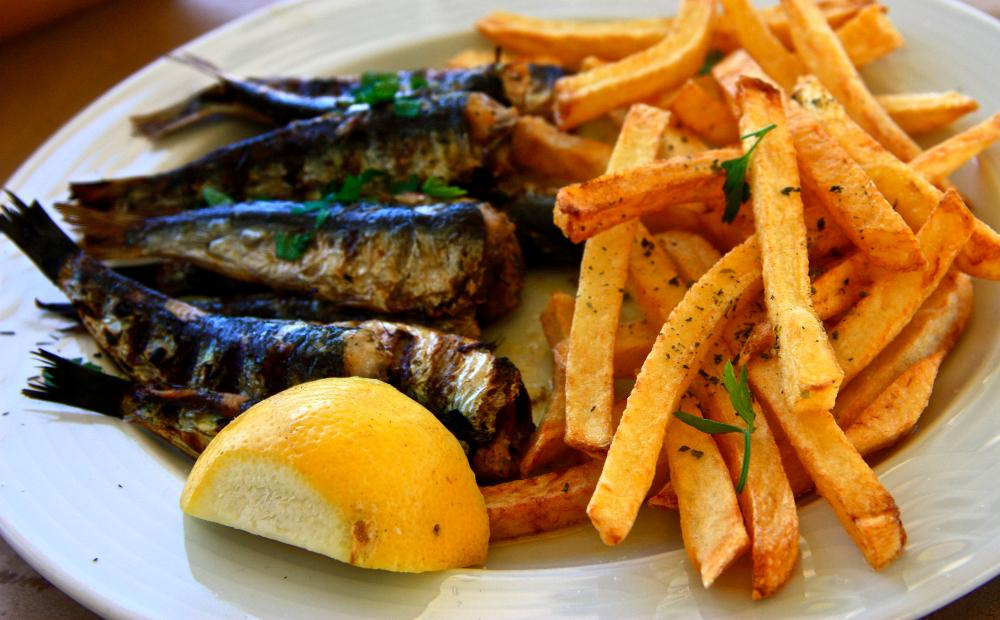 grilled sardines greece paros greek