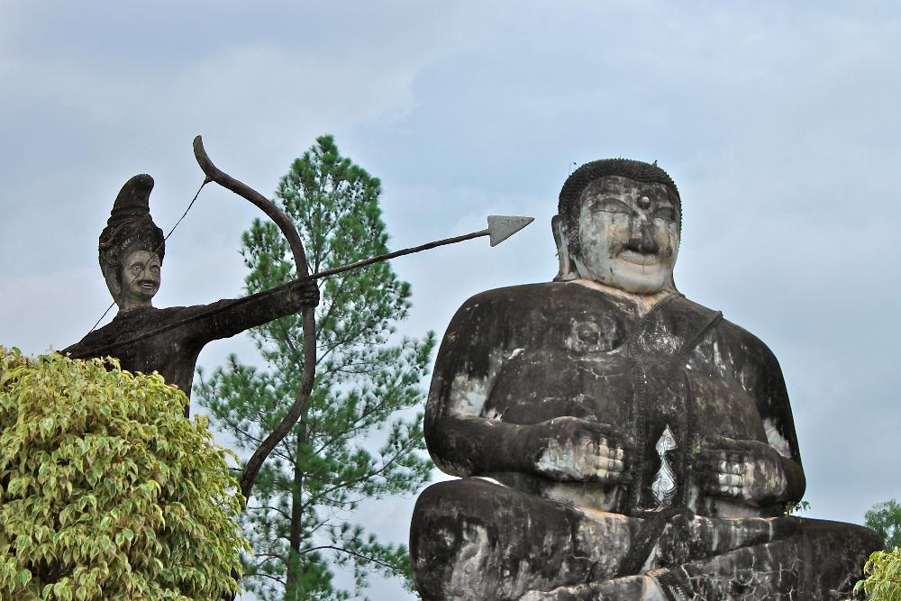 wat khaek statue park nong khai thailand