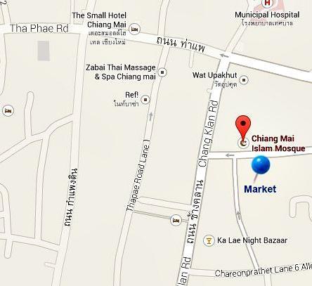 Map Chiang Mai morning market