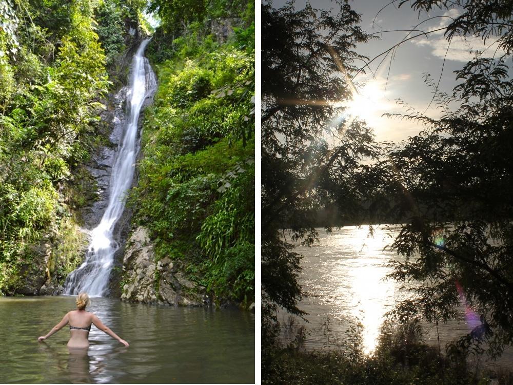 than thip waterfall mekong river thailand laos sangkhom nong khai