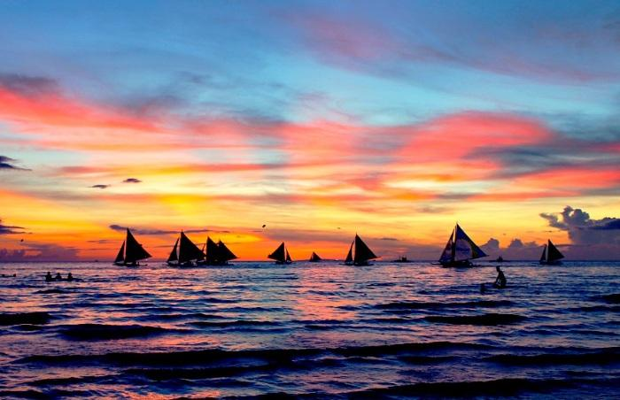 travel Boracay Philippines sunset