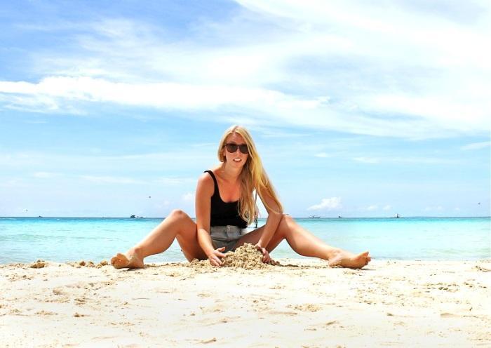 sandcastle beach boracay philippines