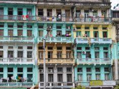 downtown Yangon Burma Myanmar