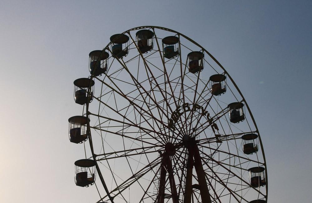 ferris wheel krasnoyarsk siberia russia