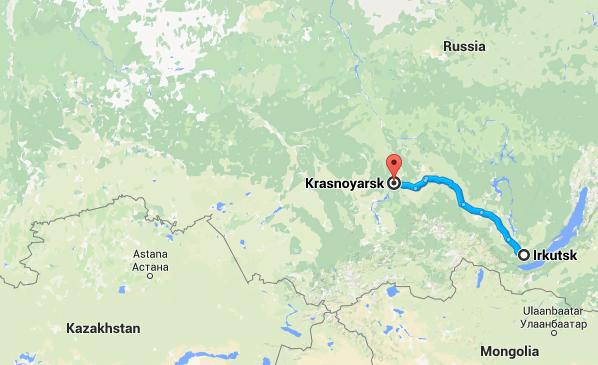 Irkutsk to Krasnoyarsk
