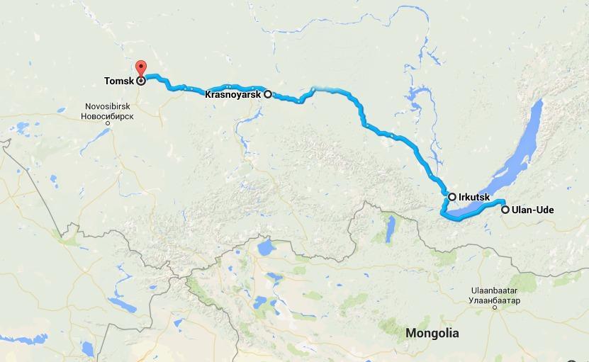 Trans-Siberian route