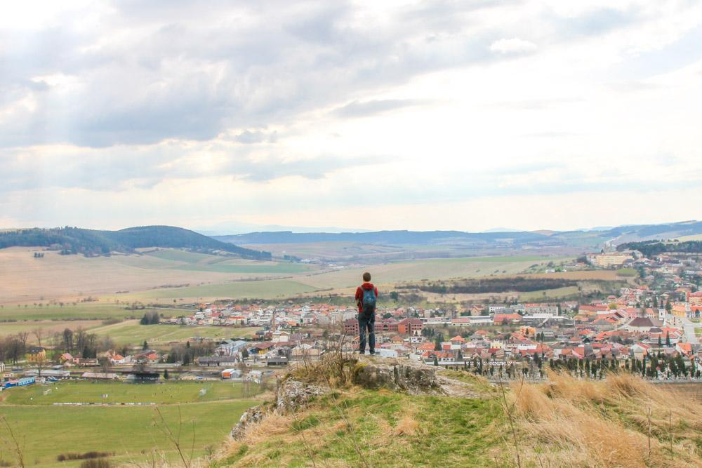 view from Spis Castle, Slovakia