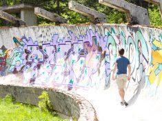 Abandoned Bobsled Track Sarajevo Bosnia