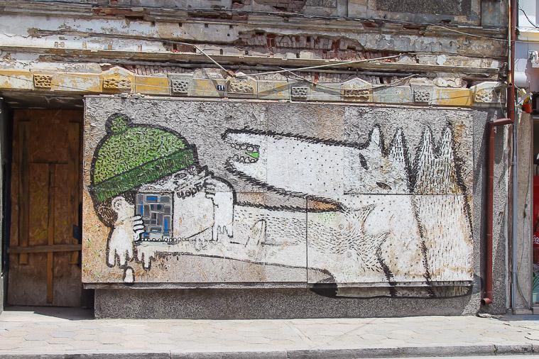 street art Veliko Tarnovo Bulgaria