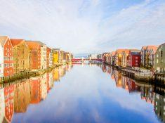 Trondheim in autumn Norway