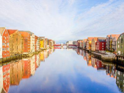Trondheim in autumn Norway