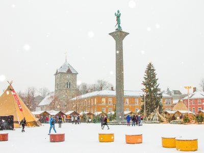 Christmas market Trondheim Norway