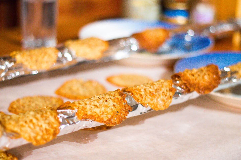 Norwegian almond lace cookies