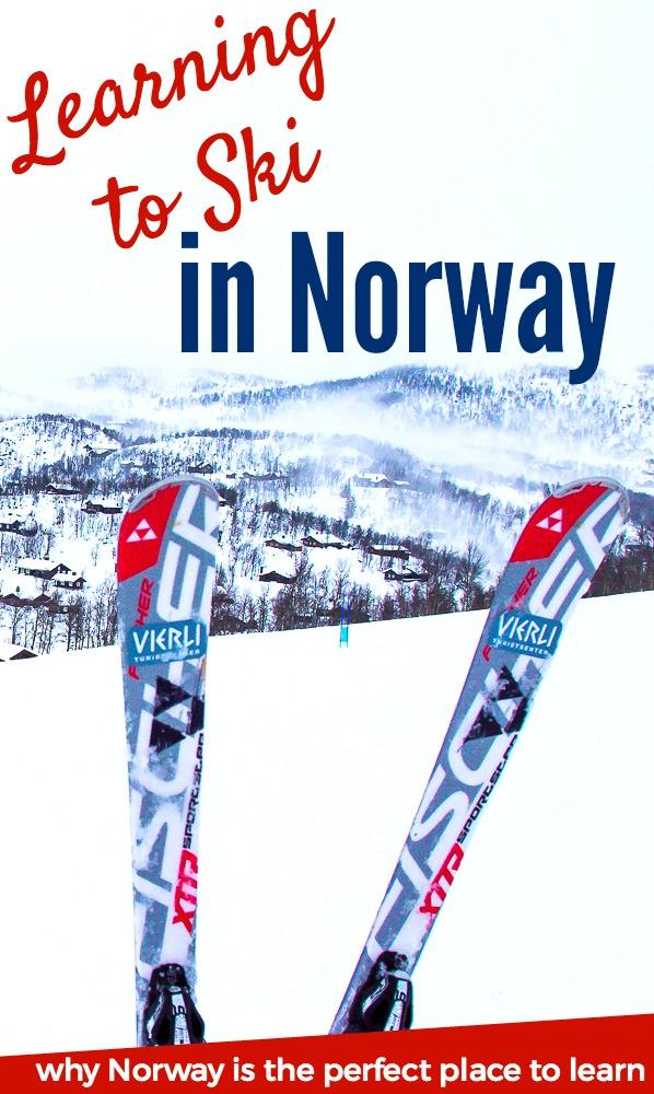 ski lessons at Vierli Ski Resort in Rauland, Telemark, Norway. Click to read why Norway is actually the perfect place to learn how to ski!