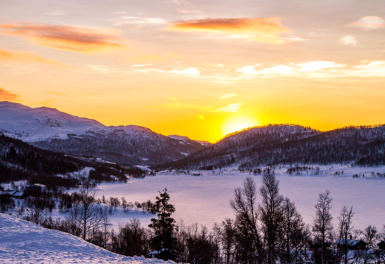 sunrise Rauland Telemark Norway