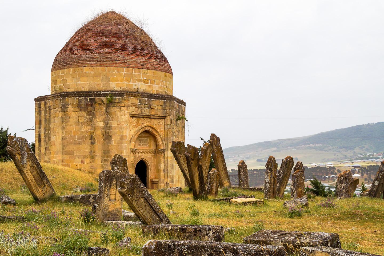 Cemetery in Shamaki Azerbaijan