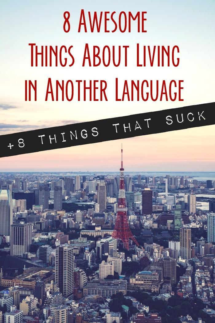 Expat life is difficult enough - add a foreign language to the mix and it can down right suck. But there are also some awesome things about learning to live in a foreign language!