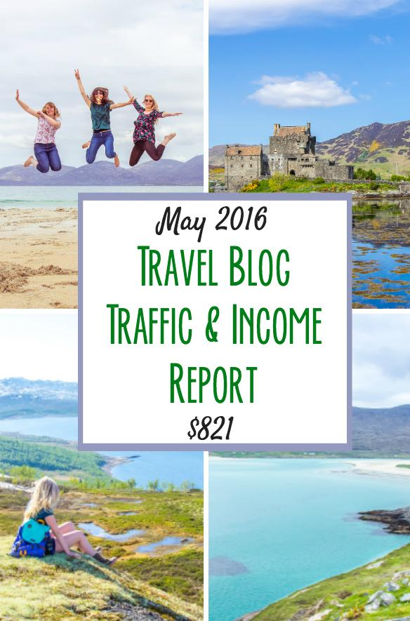 travel blog traffic income report