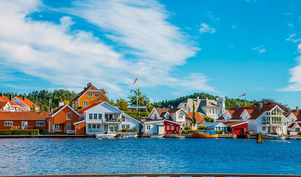 Mandal southern Norway coast